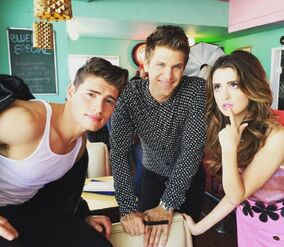 Laura with Gregg Sulking and Keegan Allen