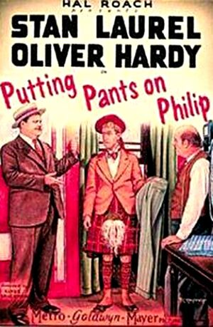 Lh putting pants on philip poster