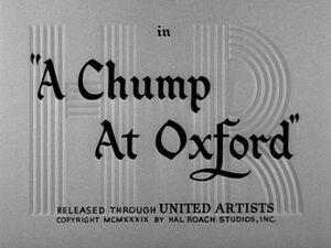 Lh chump at oxford