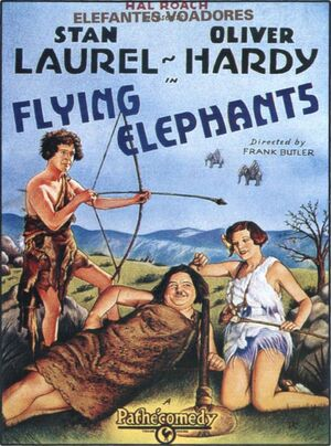 Lh flying elephants poster