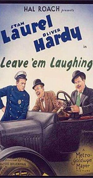 Lh leave em laughing poster