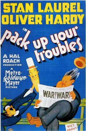 Lh pack up your troubles poster