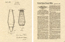 Vintage Lava Lamp US Patent Art Print 1968 Psychedelic Light