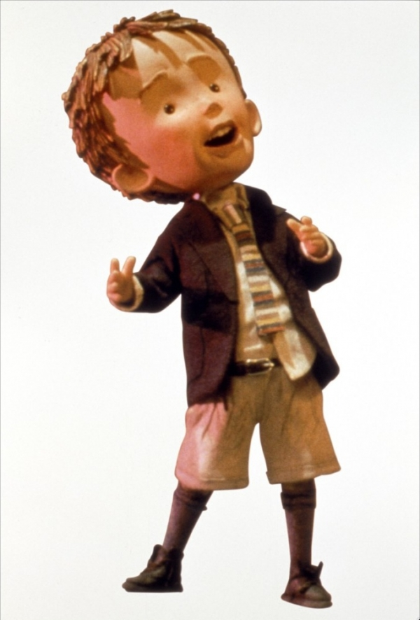 Animated clay model of James from the film James and the Giant Peach