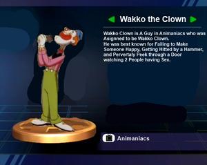 Wakko Clown Trophy