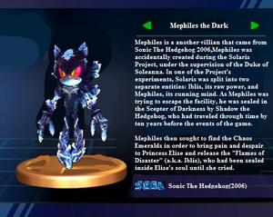 Mephiles Profile