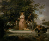 George Morland - A Party Angling - Google Art Project