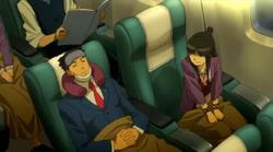 Nick maya on plane
