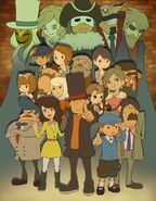 Layton Kyōju Royale Artwork