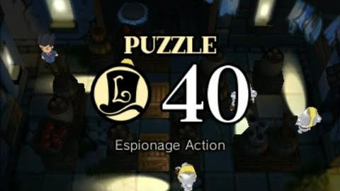 Puzzle Solution Puzzle 40 - Espionage Action (Professor Layton vs Phoenix Wright Ace Attorney)