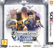 Professor Layton vs Phoenix Wright French Boxart