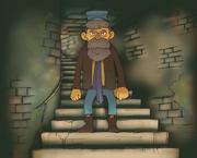 Bruno auf der Treppe