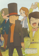 Layton Artbook Commemorative Illustation 2
