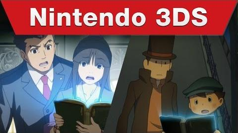 Nintendo 3DS - Professor Layton VS Phoenix Wright Ace Attorney Launch Trailer
