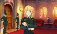 Sophie im Angeklagtenzimmer