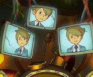 Clive auf Bildschirm