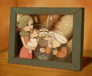 Professor Layton Curious Village - Flora with Family