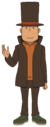 Layton in Mystery-Solving Files