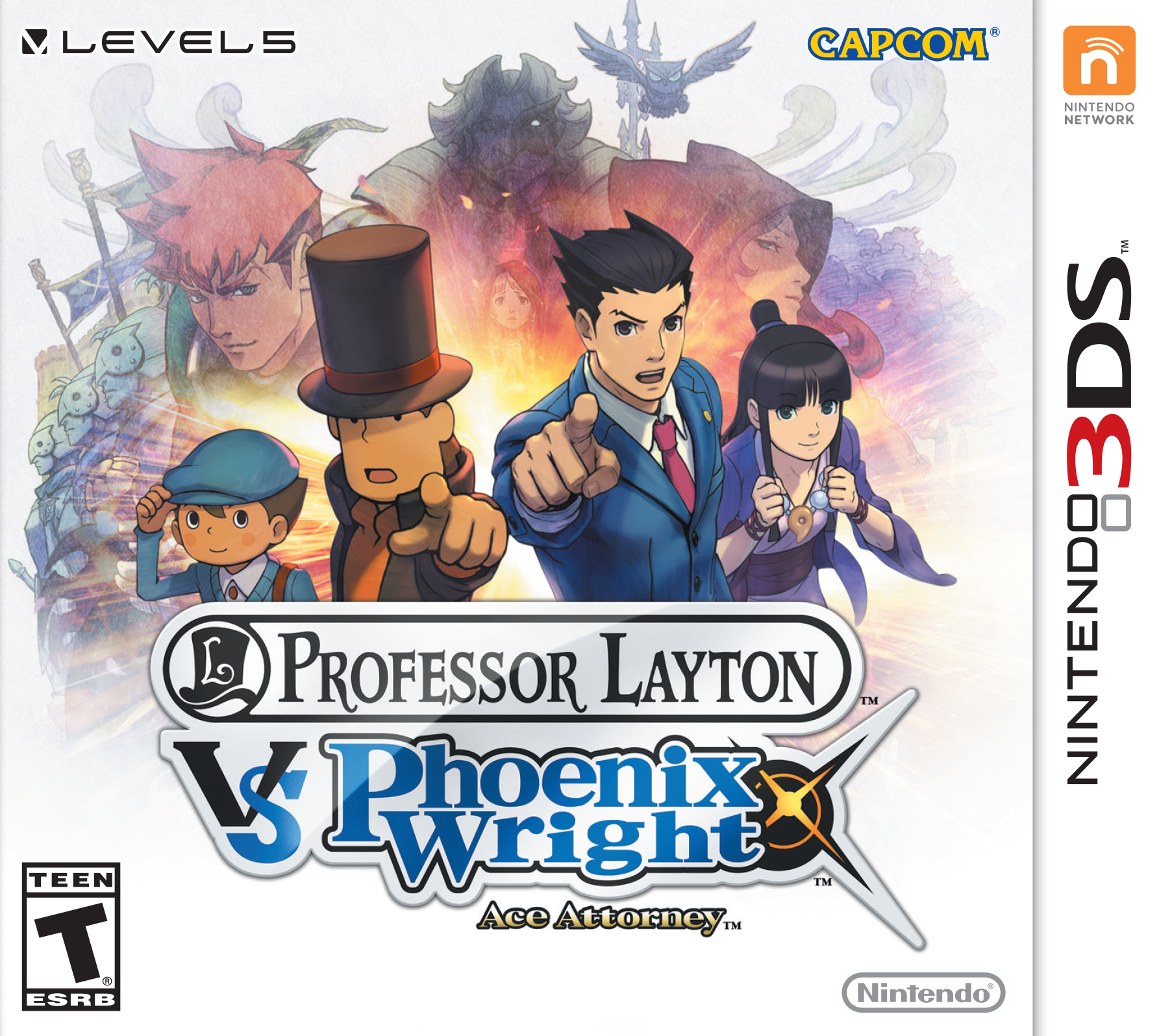 Professor Layton Vs Ace Attorney Art Book