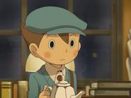 Luke mit einer Teekanne
