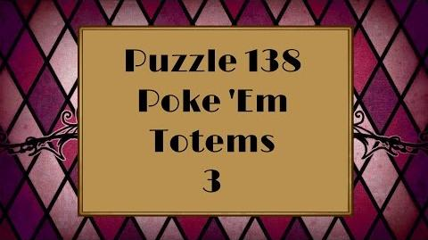 Professor Layton and the Miracle Mask - Puzzle 138 Poke 'Em Totems 3