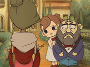 Professor Layton Curious Village - Flora scared of Robot Dahlia