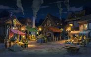 Markt in Labyrinthia bei Nacht 2