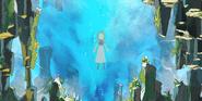 Aurora in der Eiswand