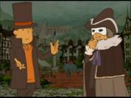 Layton und Descole in Misthallery