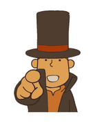Layton 1 Character Art Layton pointing