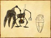 Bergbauroboter (Skizze)