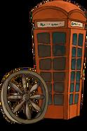 Knallrote Telefonzelle