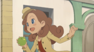 Kat mit Apfel