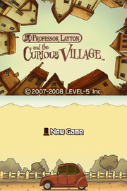 Prof curious village frontscreen