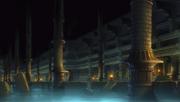 Unterirdische Ruinen Fluss
