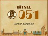 Barton parkt ein
