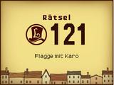 Flagge mit Karo
