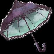 Vergessener Regenschirm
