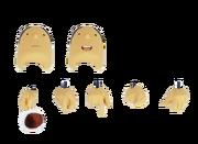 Layton Revoltech Gesichter und Hände