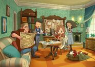 Layton´s Mystery Journey Artwork Büro