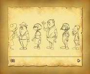 Londons Bewohner Konzept
