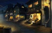 Markt in Labyrinthia bei Nacht