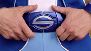 Sportacus holding his Belt