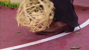 Bush of the West rolling on Robbie Rotten's feets