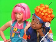 Nick Jr. LazyTown Pixel and Stephanie 24 - Behind the Scenes