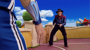 Sportacus and Robbie Rotten Western Duel 3