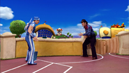 Sportacus and Robbie Rotten Western Duel