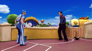Sportacus and Robbie Rotten Cowboys Duel