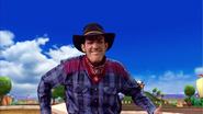 Robbie Rotten The Cowboy Having a Duel with Sheriff Stephanie