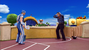 Sportacus and Robbie Rotten Cowboys Duel 3